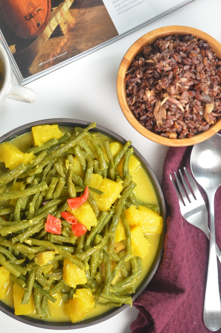 Squash and String Beans in Coconut Sauce