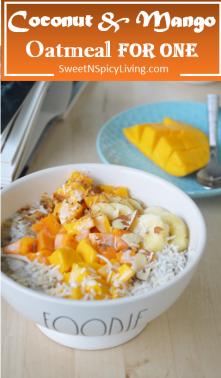 Coxonut Mango Oatmeal