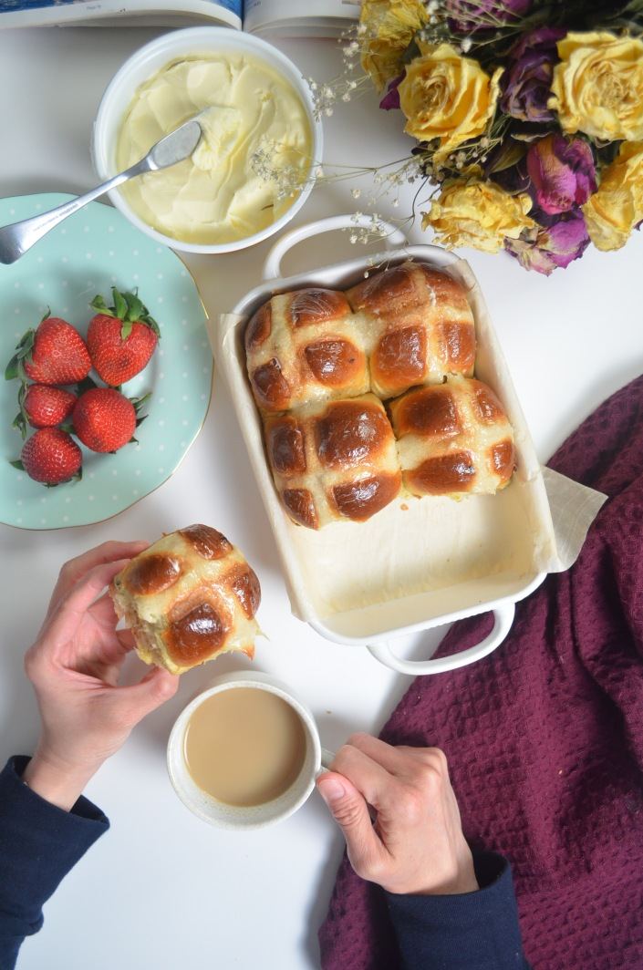 Easy Soft and Fluffy Small Batch Orange Hot Cross Buns By SweetNSpicyLivng