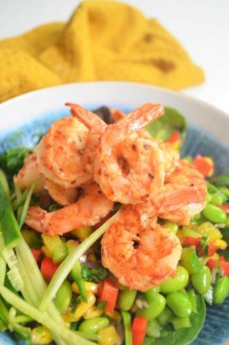 Fresh Edemame Shrimp Salad