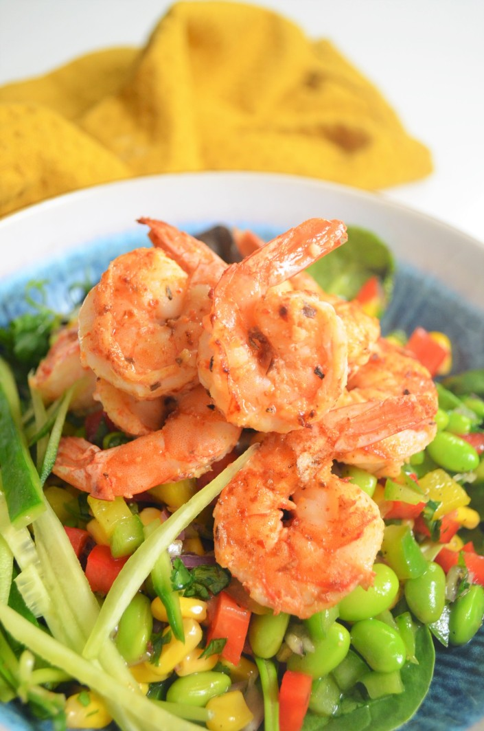 Fresh Edemame Shrimp Salad