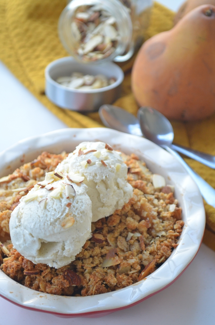 Gluten Free Pear Almond Crumble