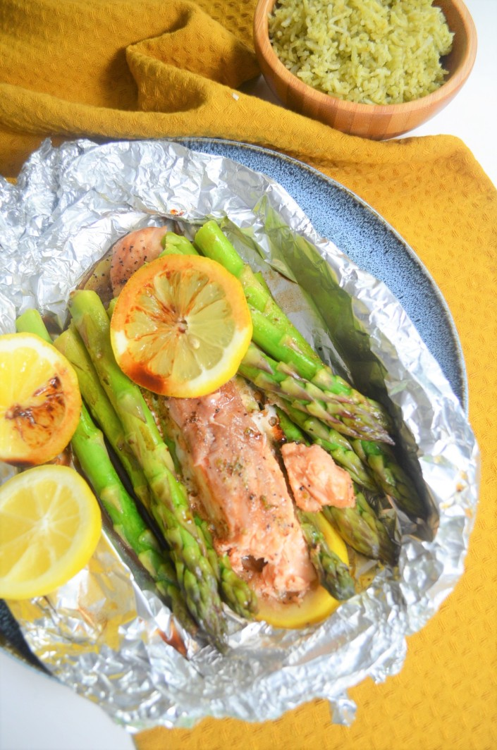 Grilled Salmon and Asparagus Foil Packets By SweetnSpicyLiving