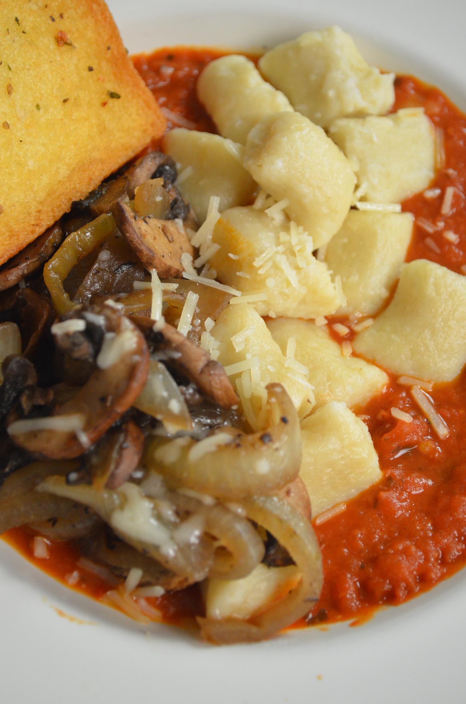 Homemade Potato Gnocchi in Tomato Sauce