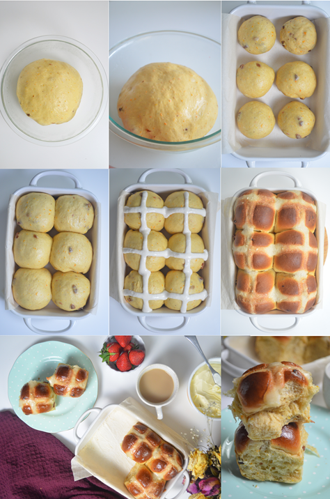 Hot Cross Buns Collage