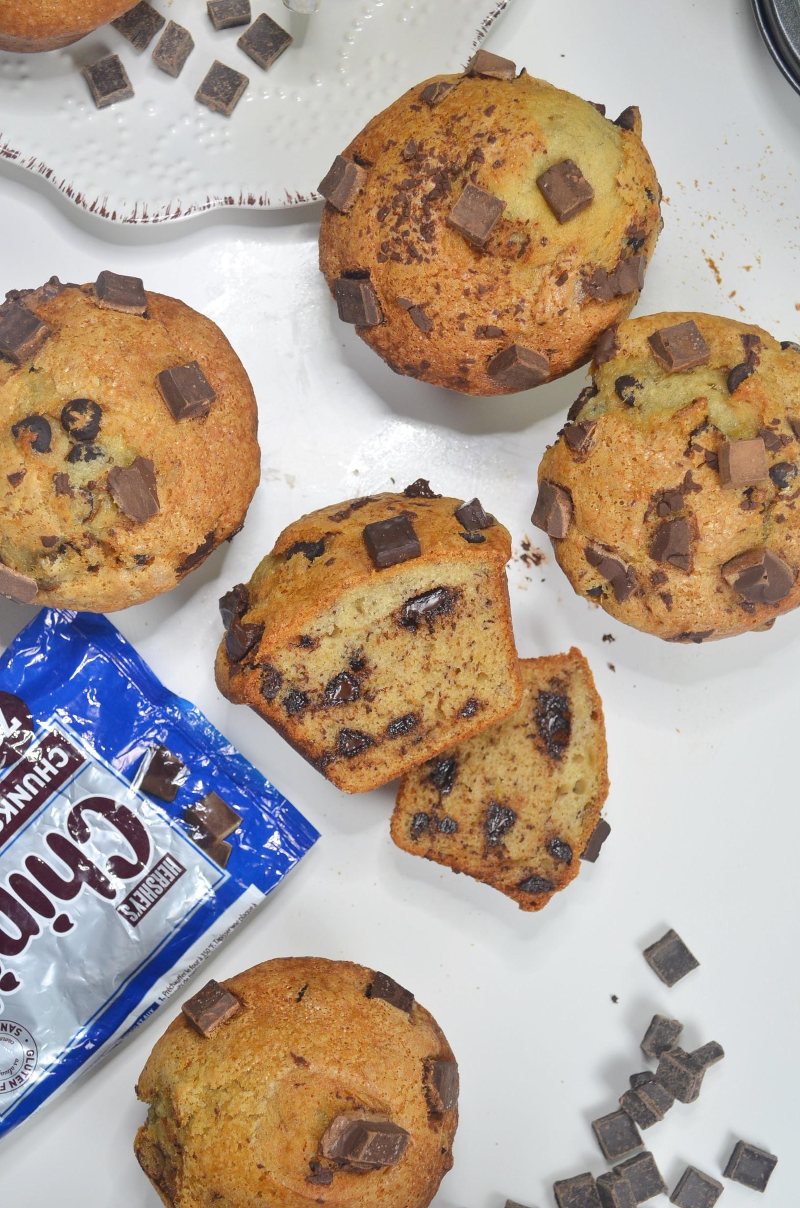 Jumbo Chocolate Chip Banana Muffin