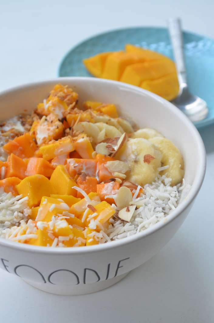 Mango Coconut Oatmeal For One