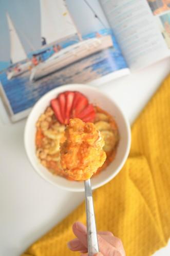 Mashed Sweet Potato Oatmeal For One