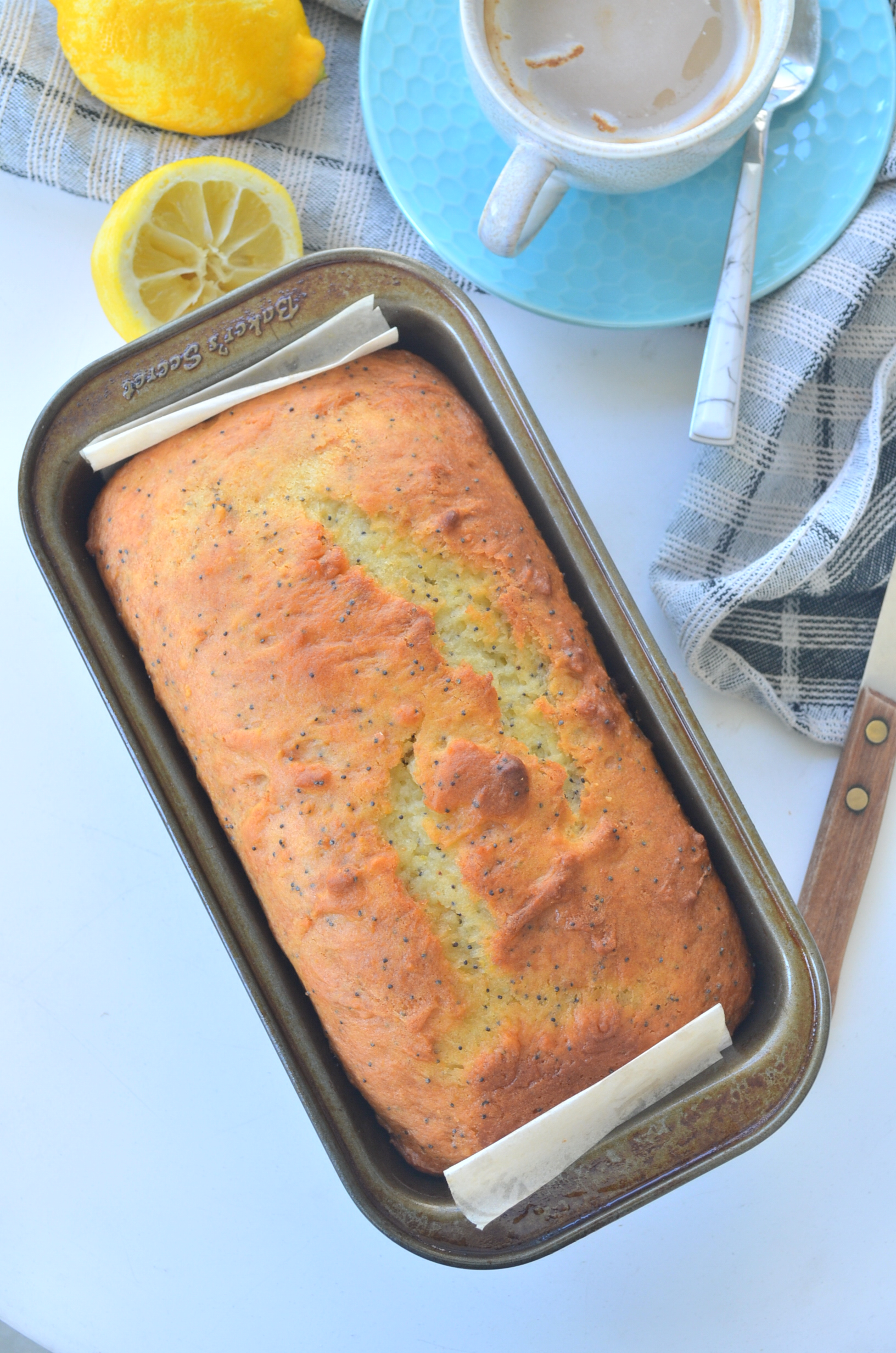 Moist Lemon Loaf Bread By SweetnSpicyLiving