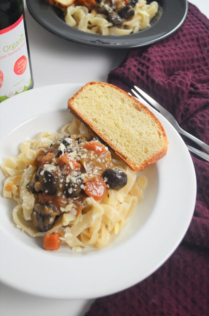 Mushroom Bourguignon Pasta
