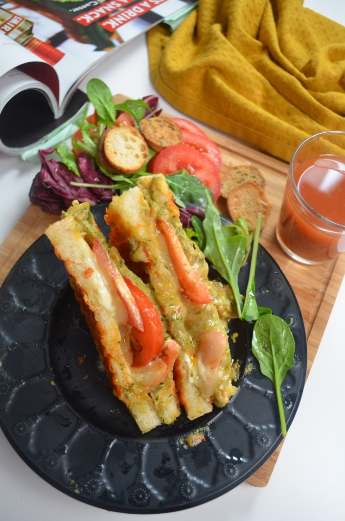 Single Serve Margheritta Grilled Cheese