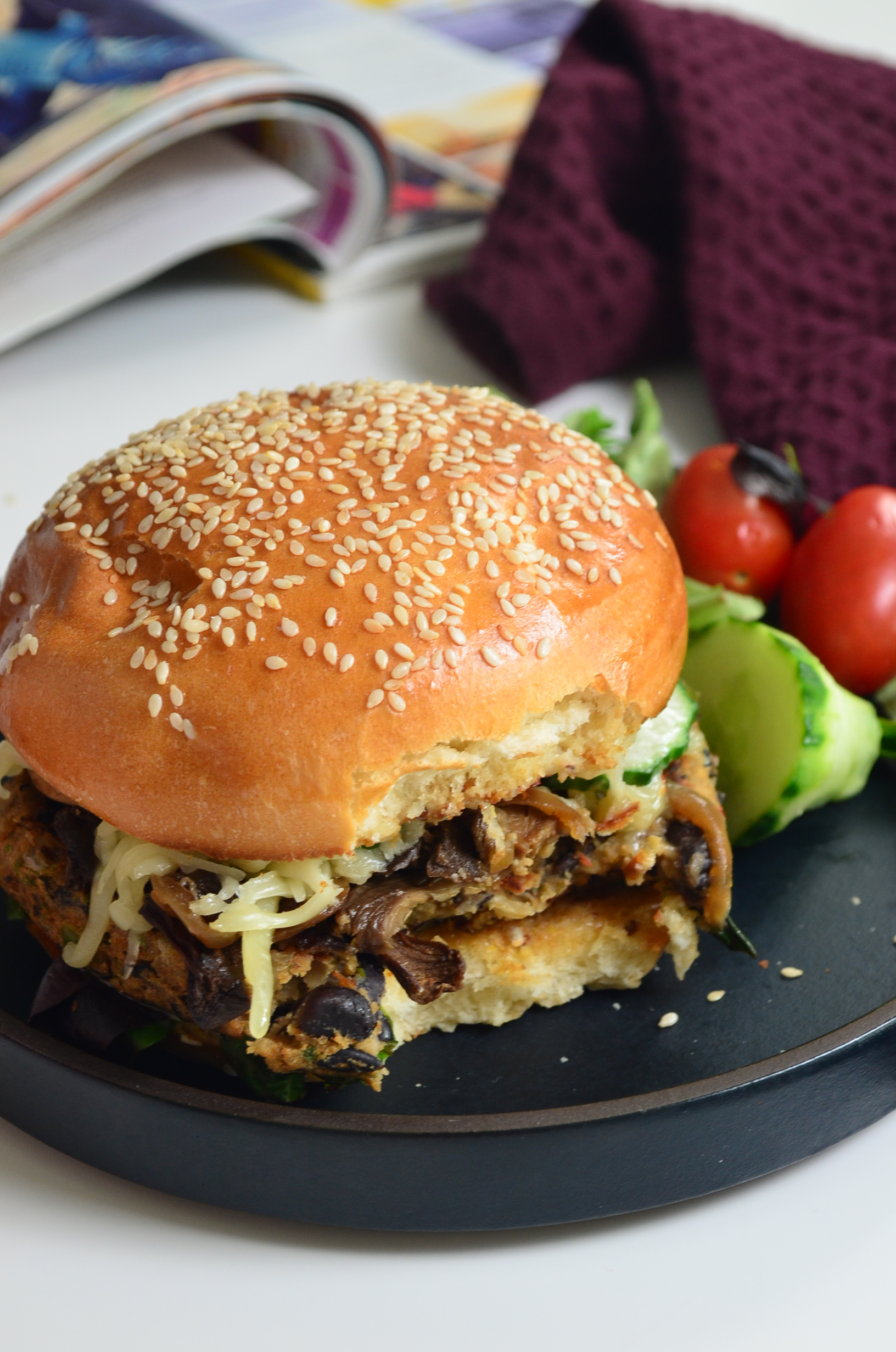Small Batch Black Bean and Quinoa Burger