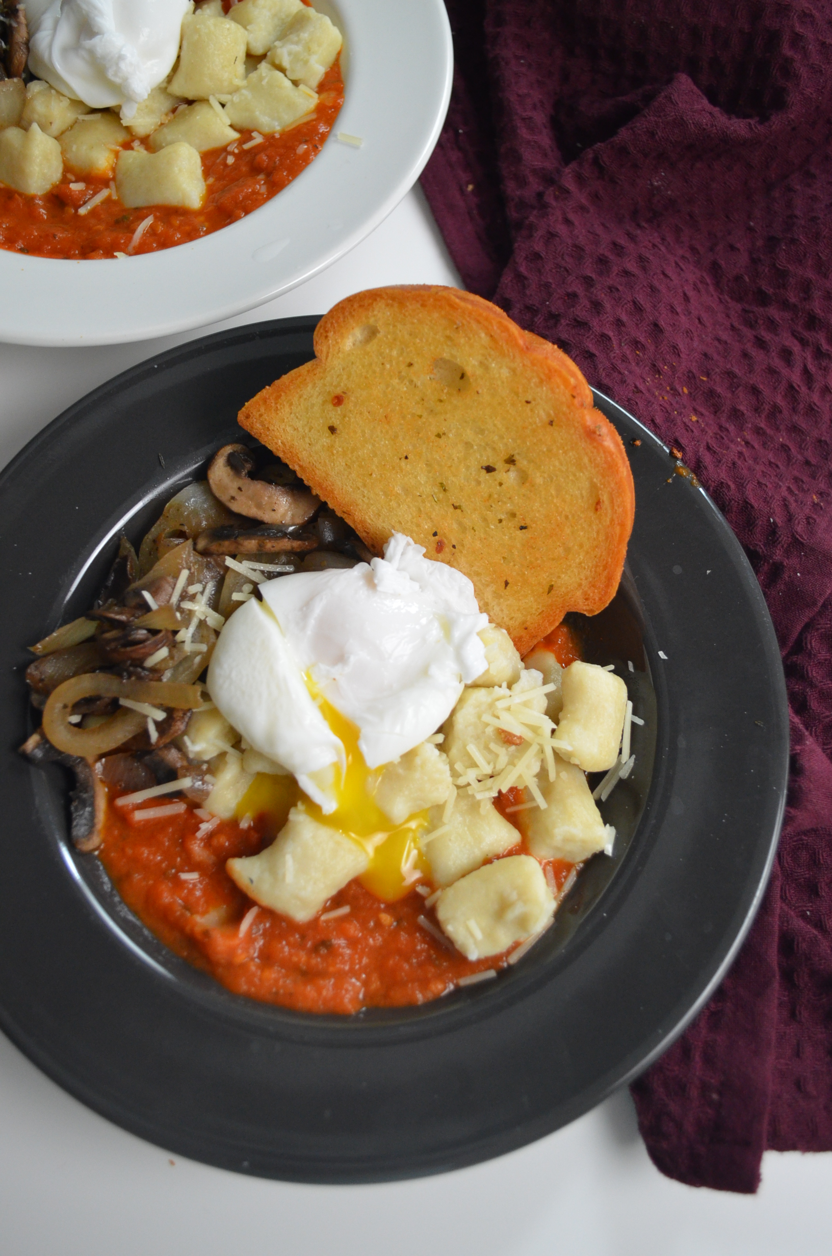 Small Batch Breakfast Potato Gnocchi with Poached Egg