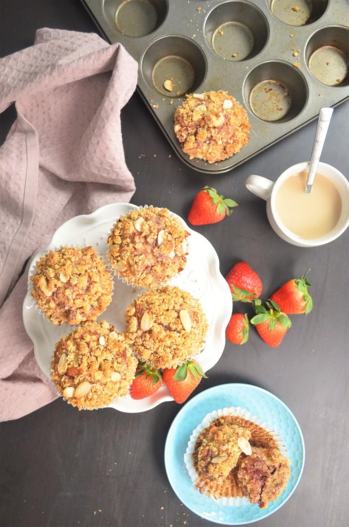 Small Batch Gluten Free Strawberry Banana Muffin