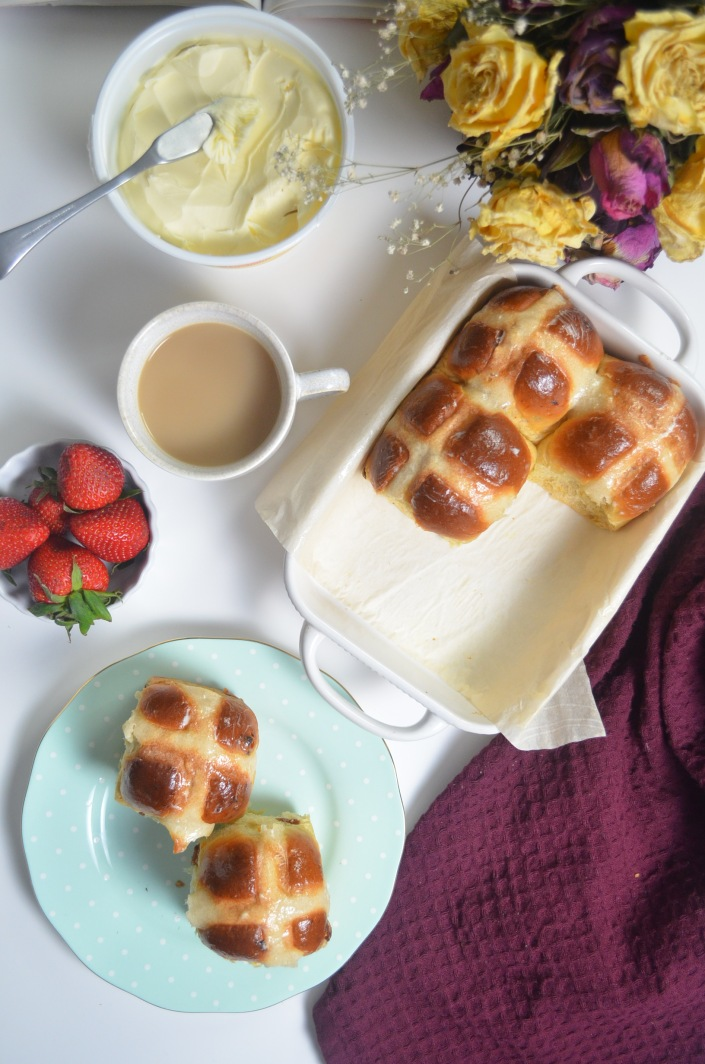 Small Batch Hot Cross Buns By SweetNSpicyLiving