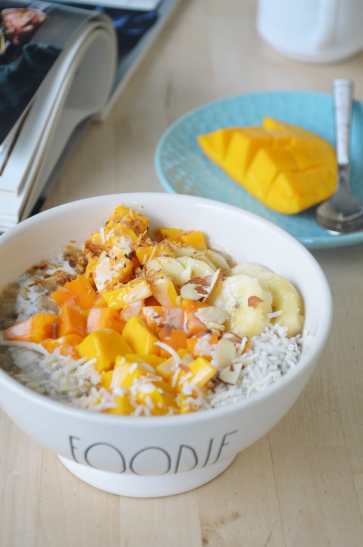 Small Batch Mango Coconut Oatmeal