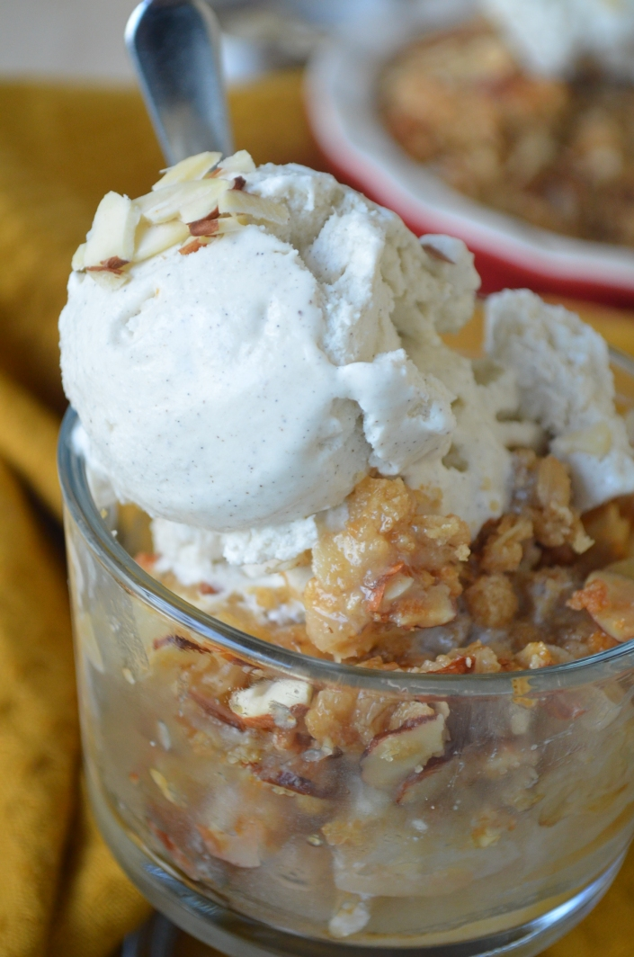 Small Batch Pear Almond Crisp