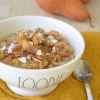 Small Batch Pear Almond Crumble Oatmeal