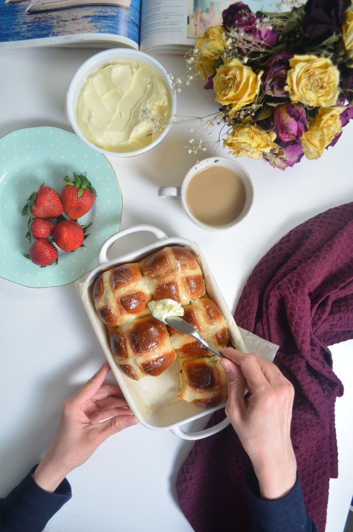 Soft and Fluffy Small Batch Orange Hot Cross Buns By SweetNSpicyLivng
