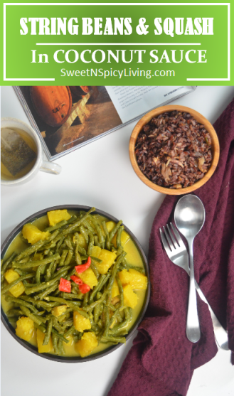 String Beans and Squash in Coconut Sauce