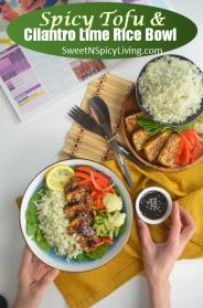 Tofu and Cilantro Rice Bowl