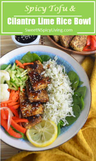 Tofu and Cilantro Rice Bowl2