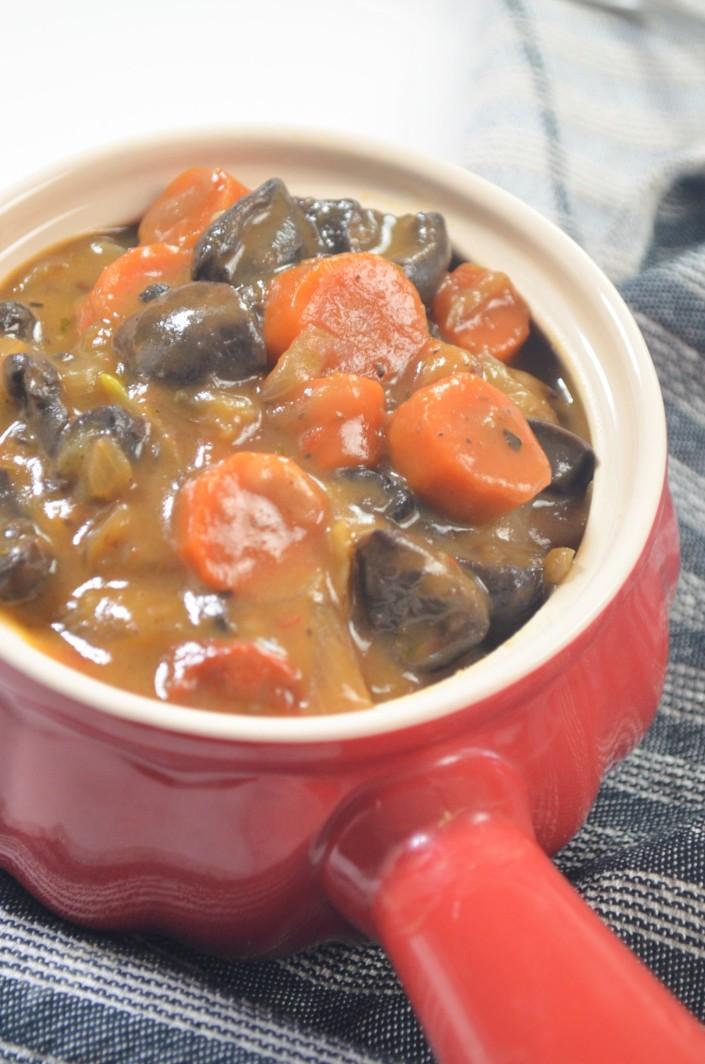Vegetarian Mushroom Bourguignon For Two