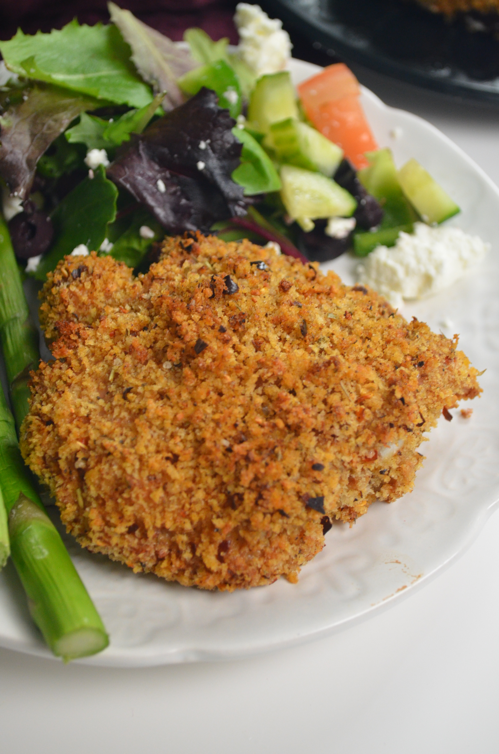 Baked Panko Crusted Chicken