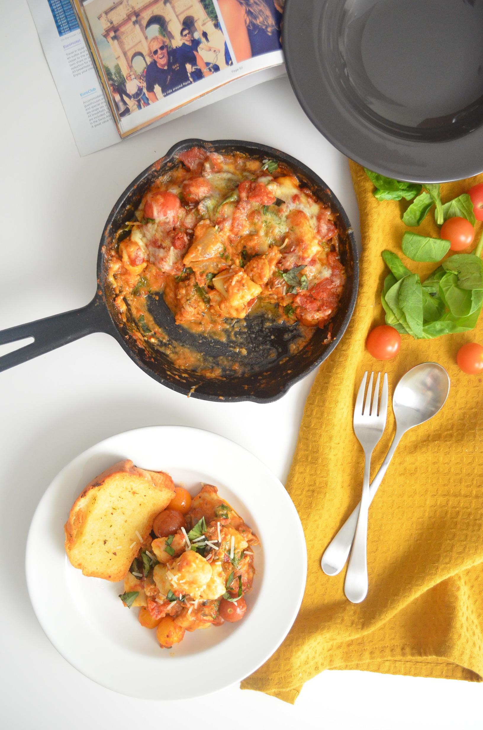 Bakeed Homemade Potato Gnocchi in Tomato Sauce