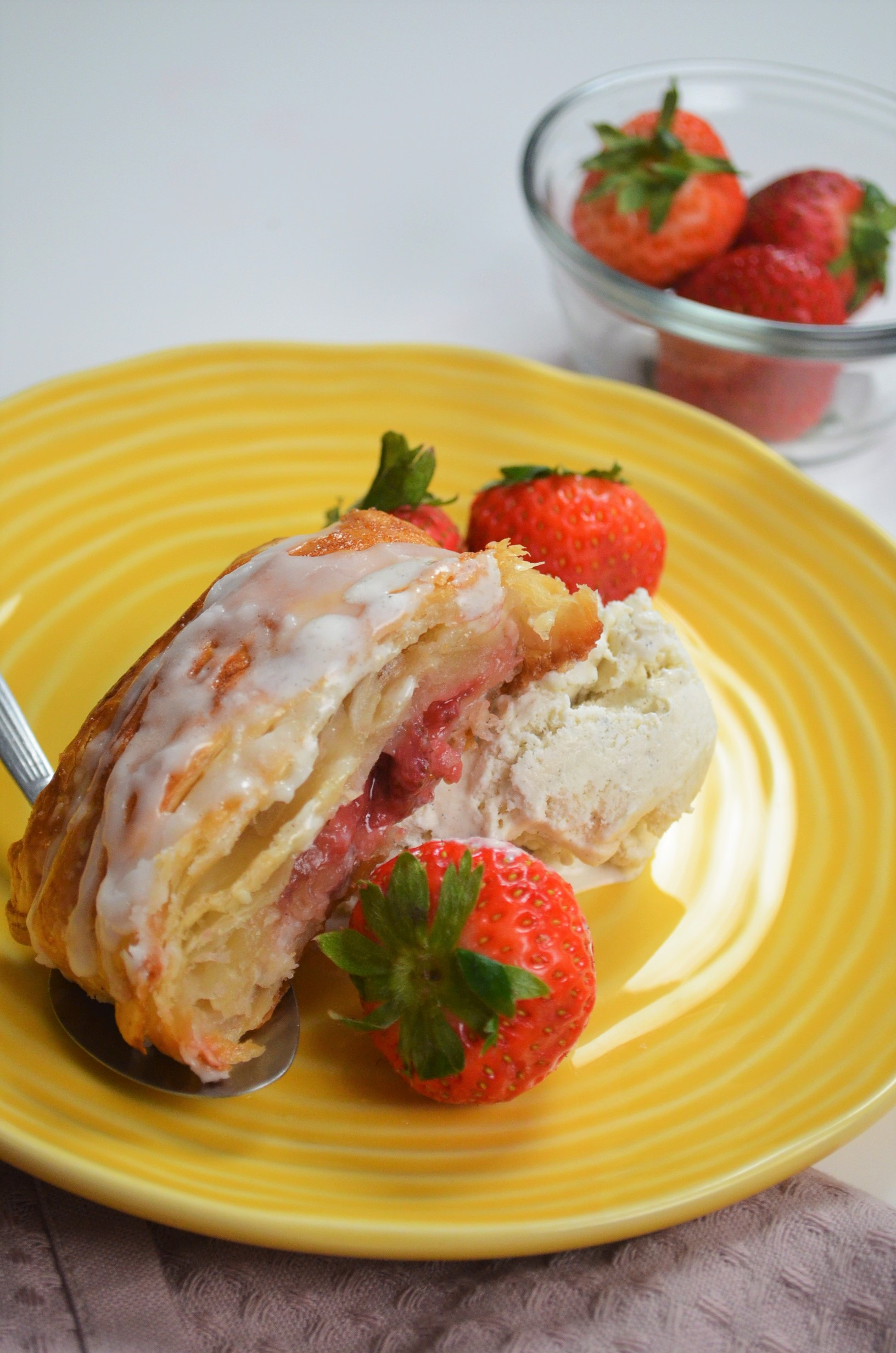 Braided Strawberry Puff Pastry By SweetNSpicyLiving