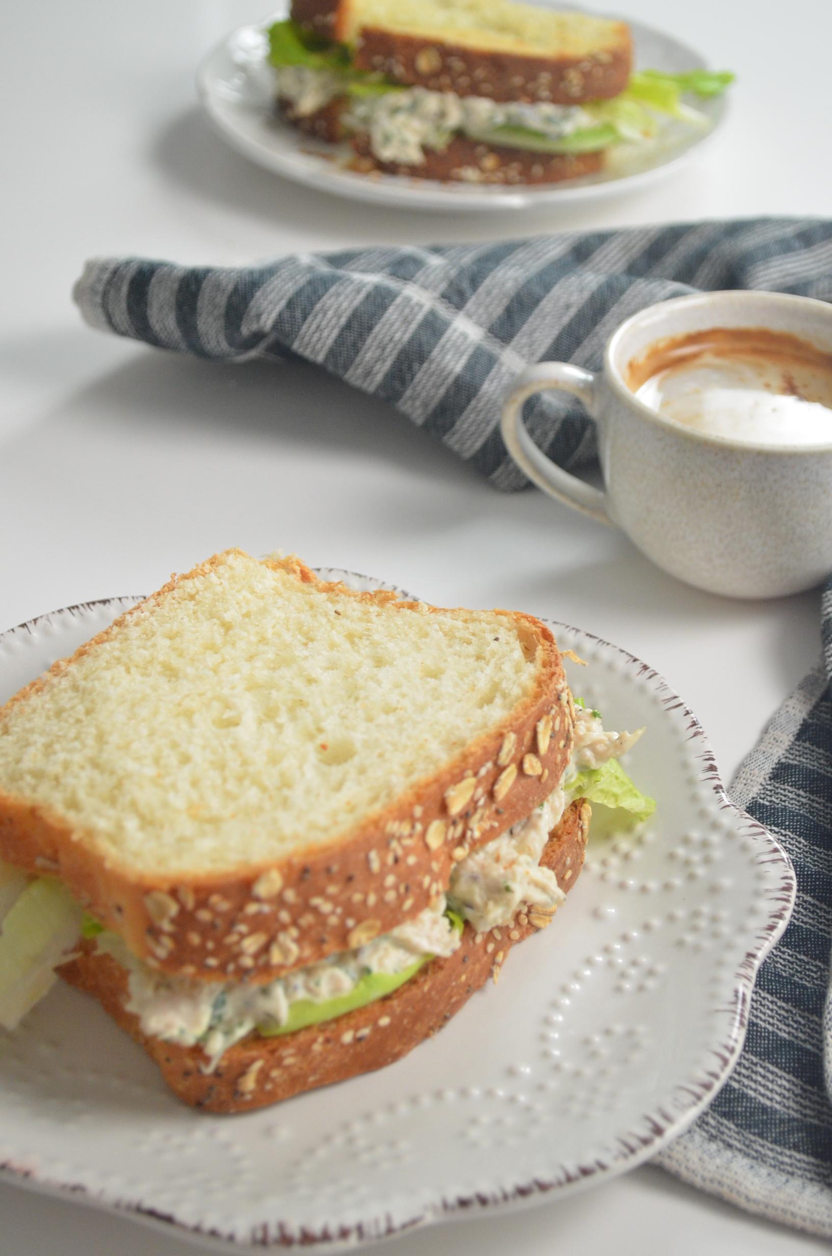 Chicken Sandwhich Spread with Homemade Vegan Bread