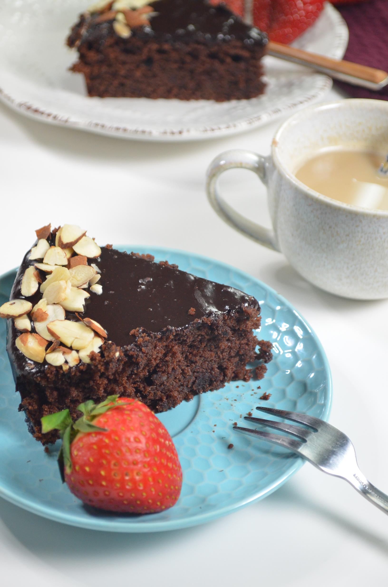 Chocolate Almond Ricotta Cake By SweetNSpicyLiving