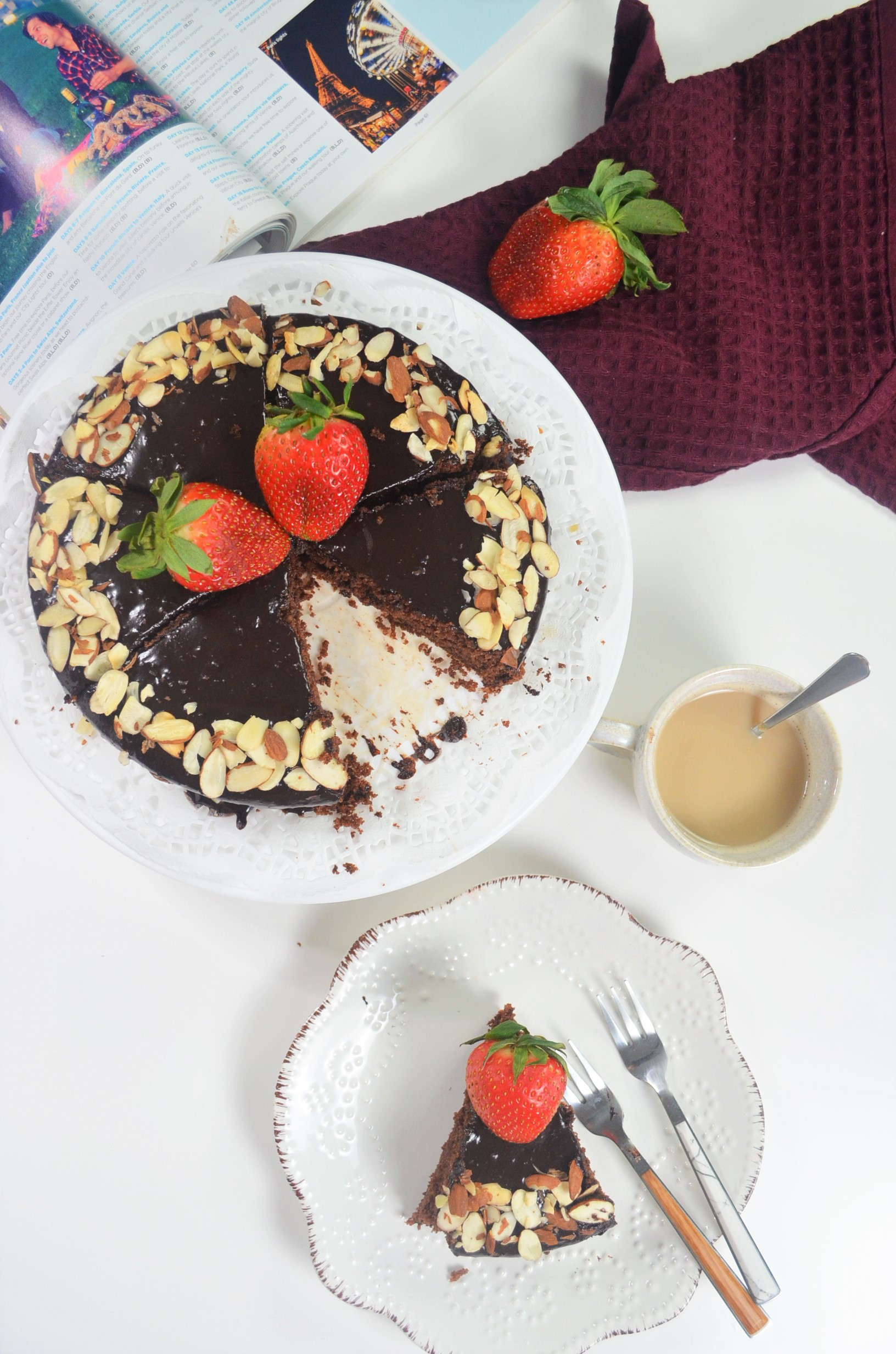 Chocolate Almond Ricotta Cake