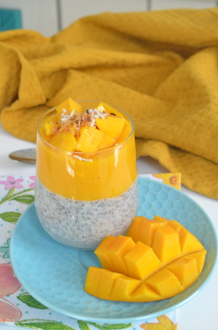 Coconut and Mango Chia Pudding For One