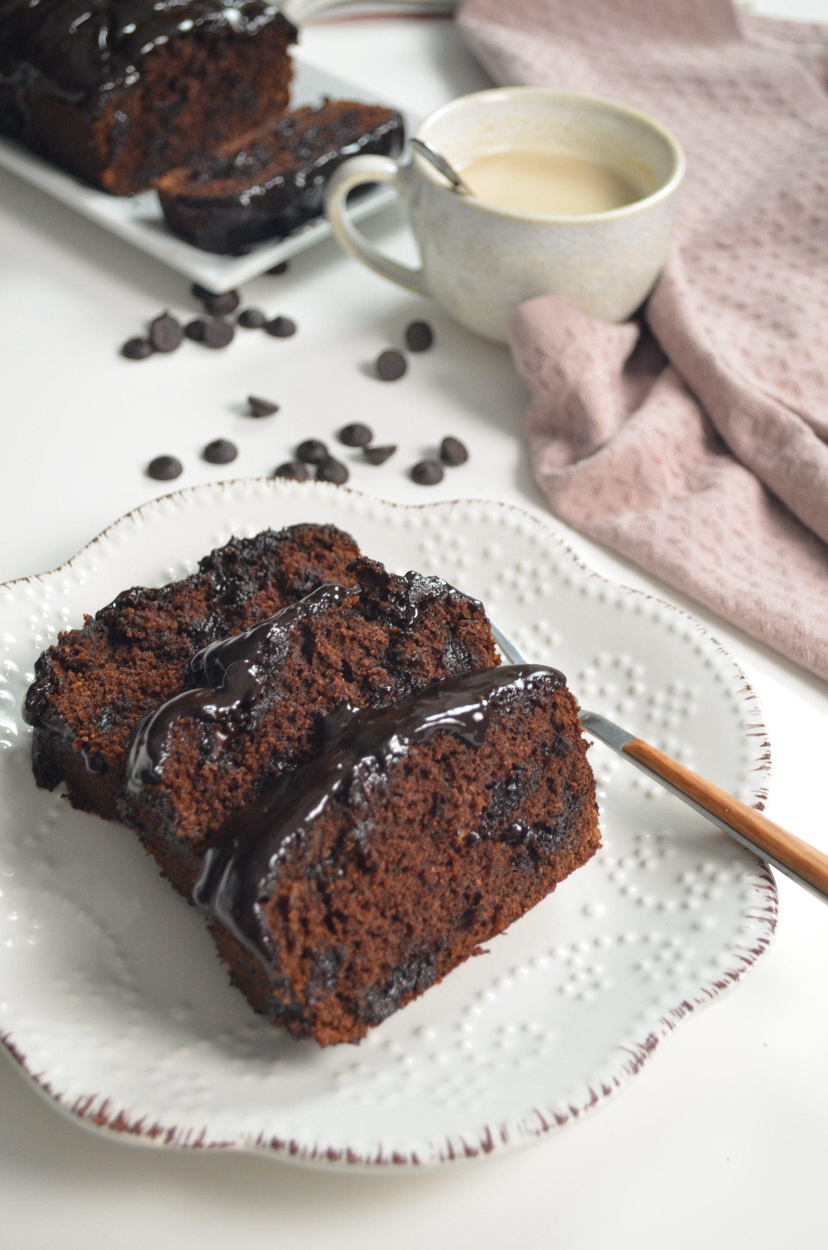 Gluten Free Double Chocolate Chip Banana Bread By SweetNSpicyLiving