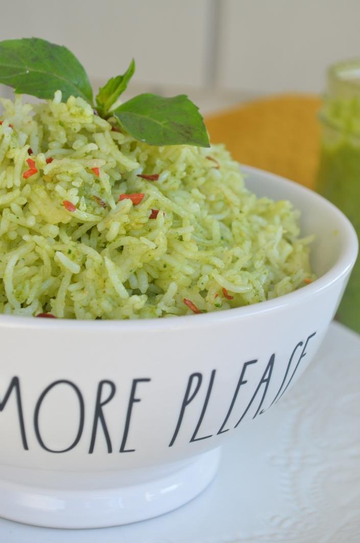 Homemade Spinach Pesto Rice
