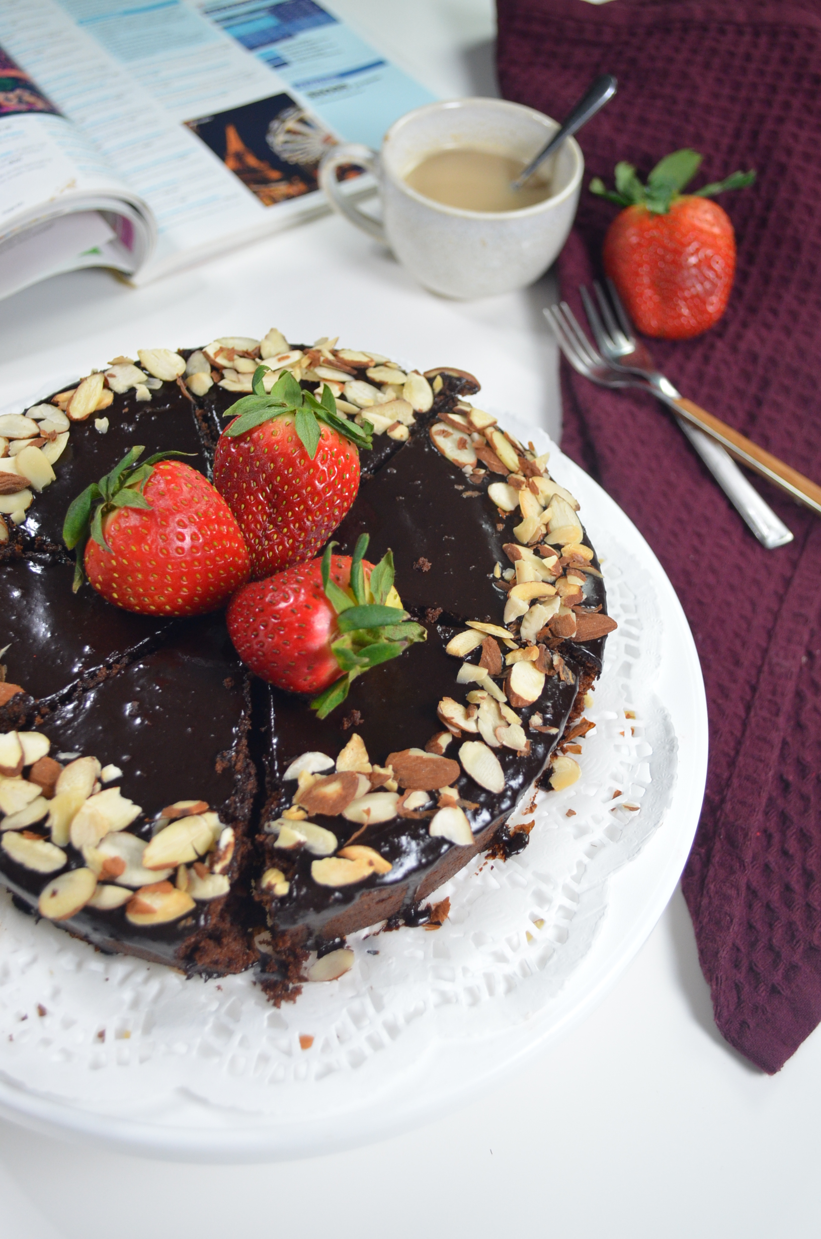 Ricotta Chocolate Almond Cake