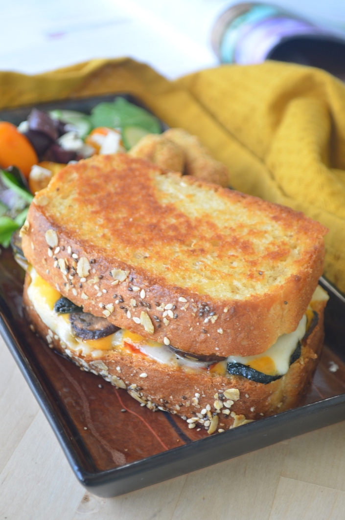 Roasted Vegetable Grilled Cheese For One