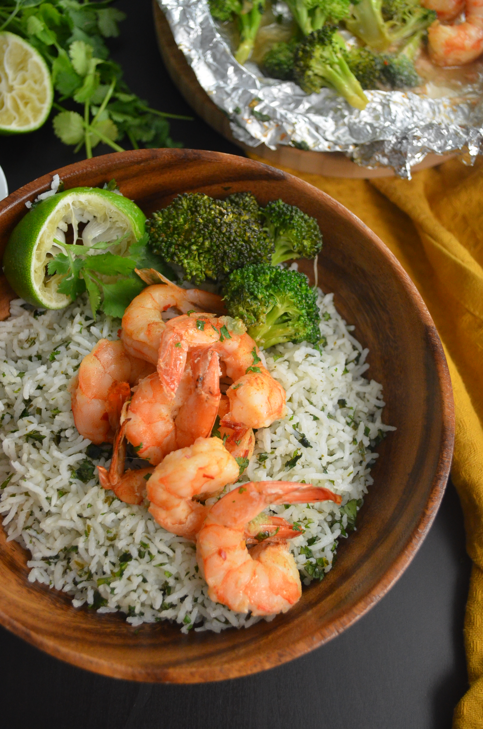 Shrimp and Broccoli Foil Pack