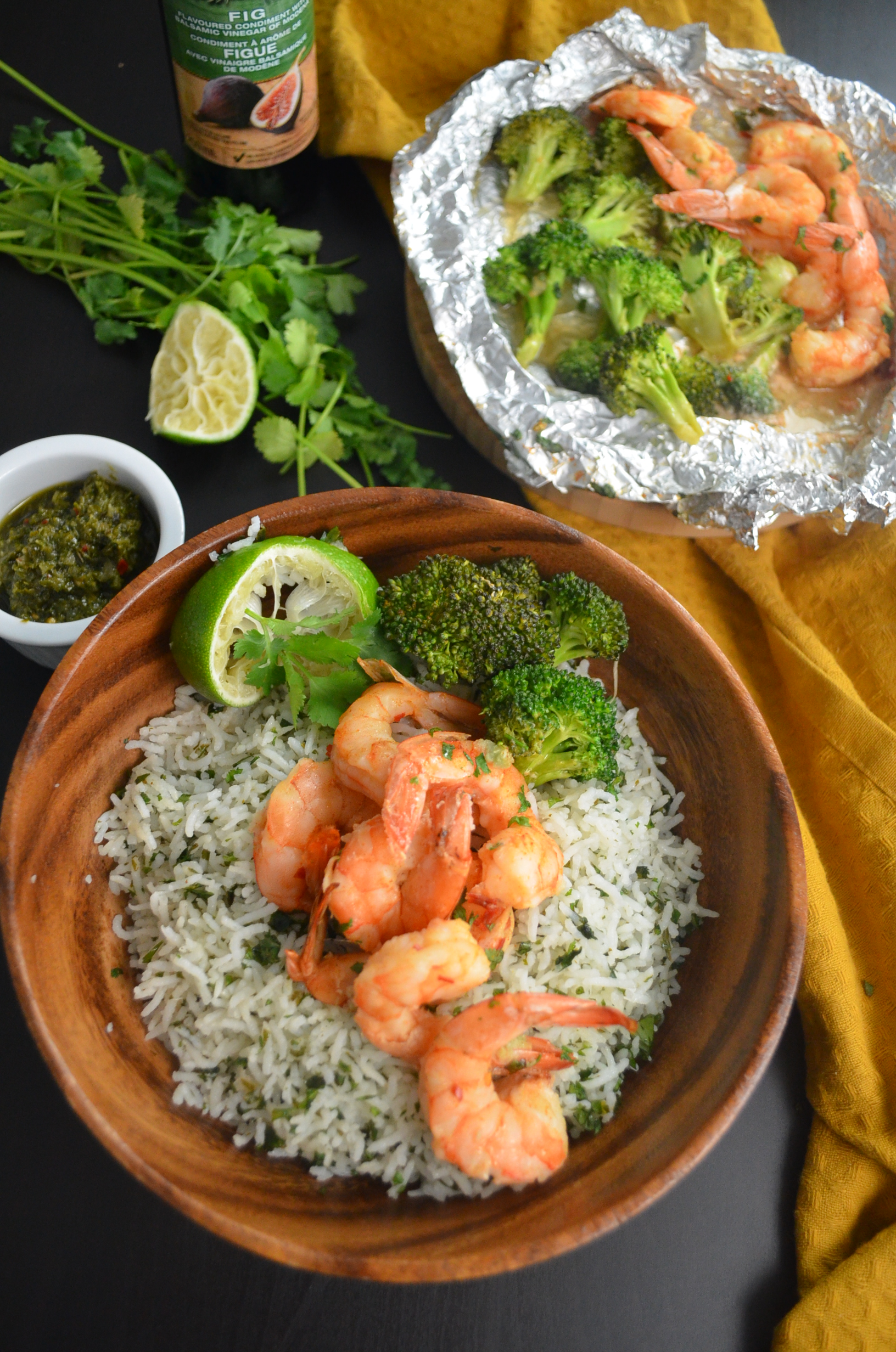 Shrimp and Broccoli Foil Packets