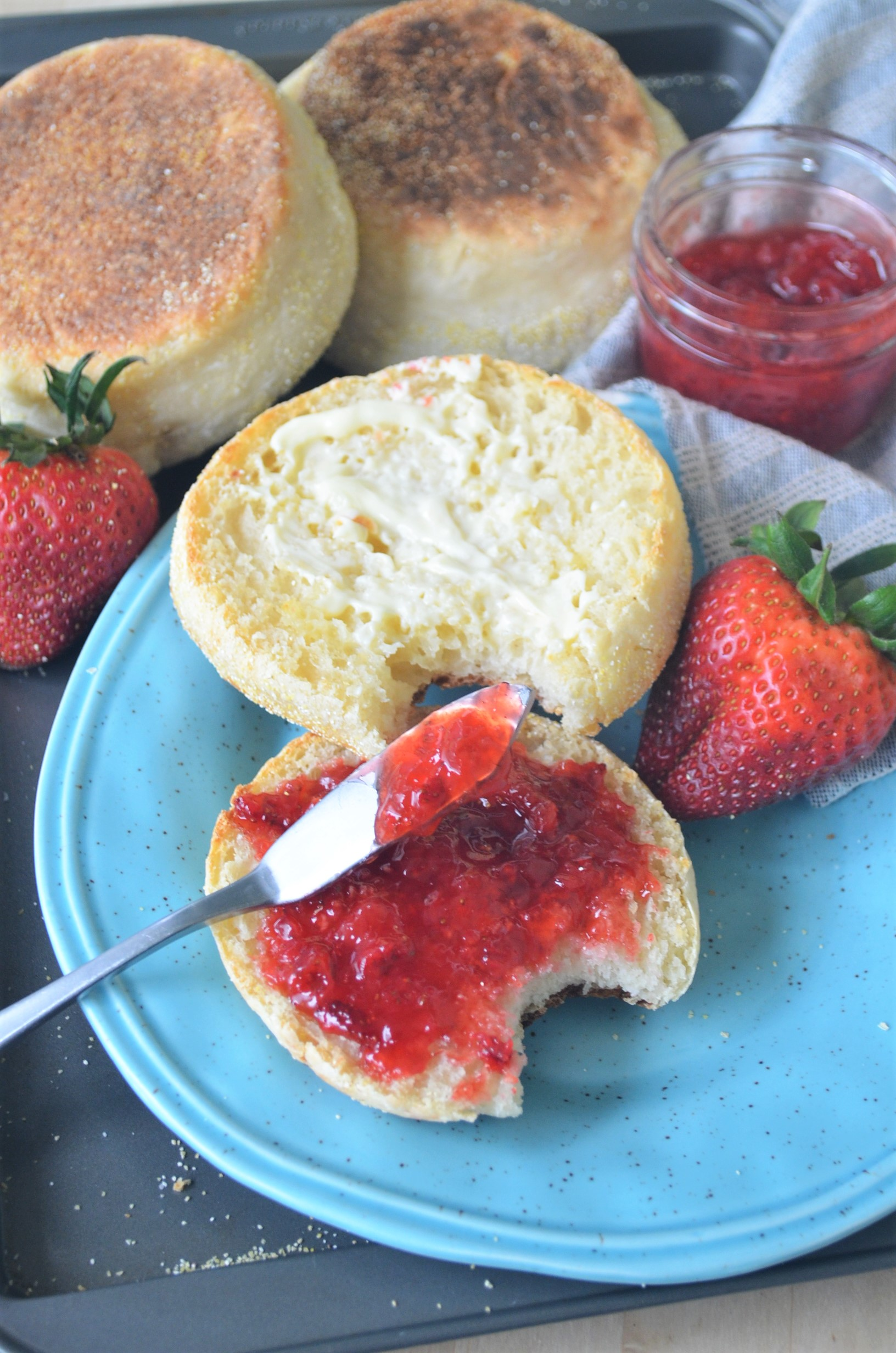 Small Batch English Muffins For Two