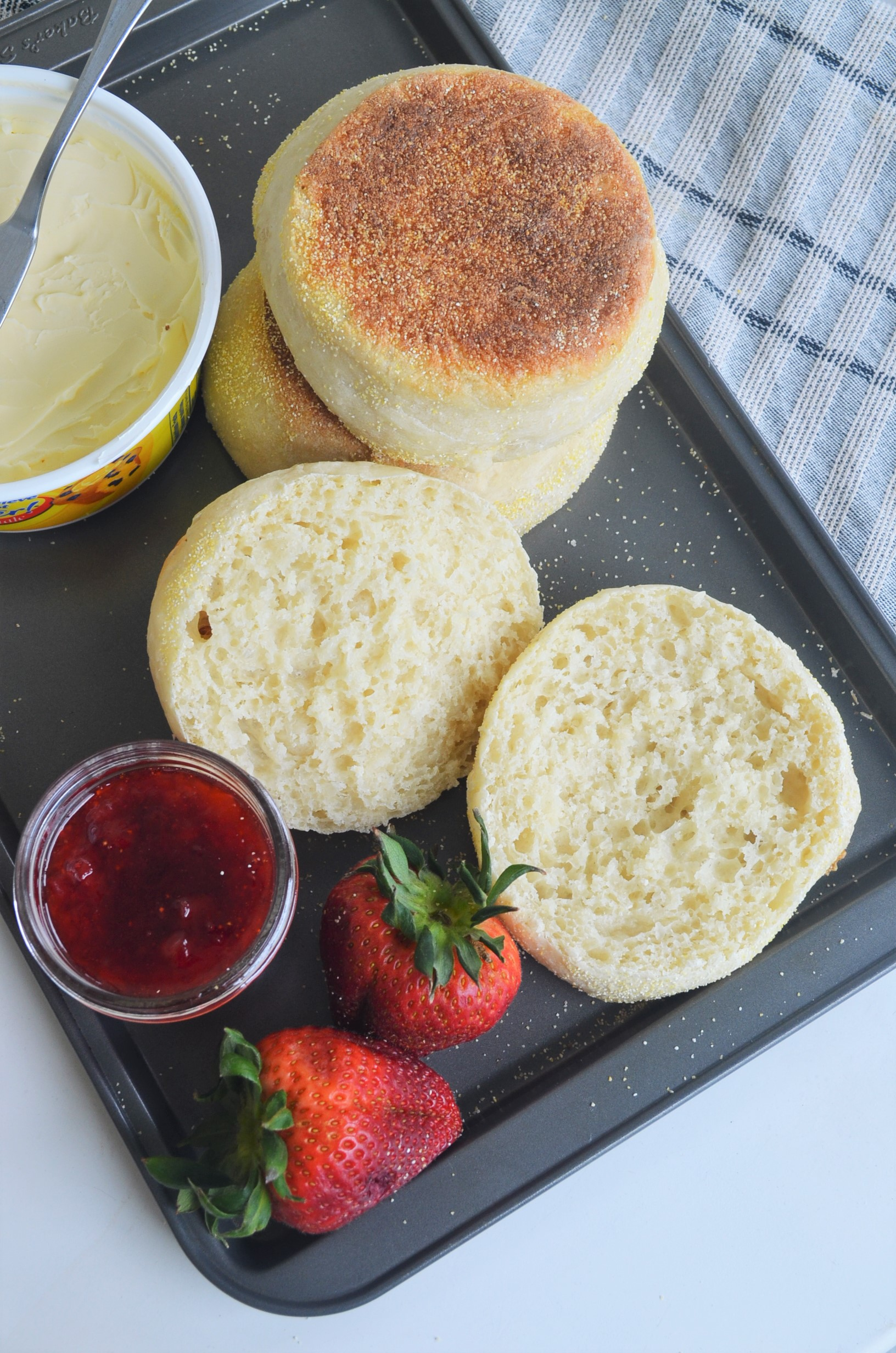 Small Batch Homemade English Muffins