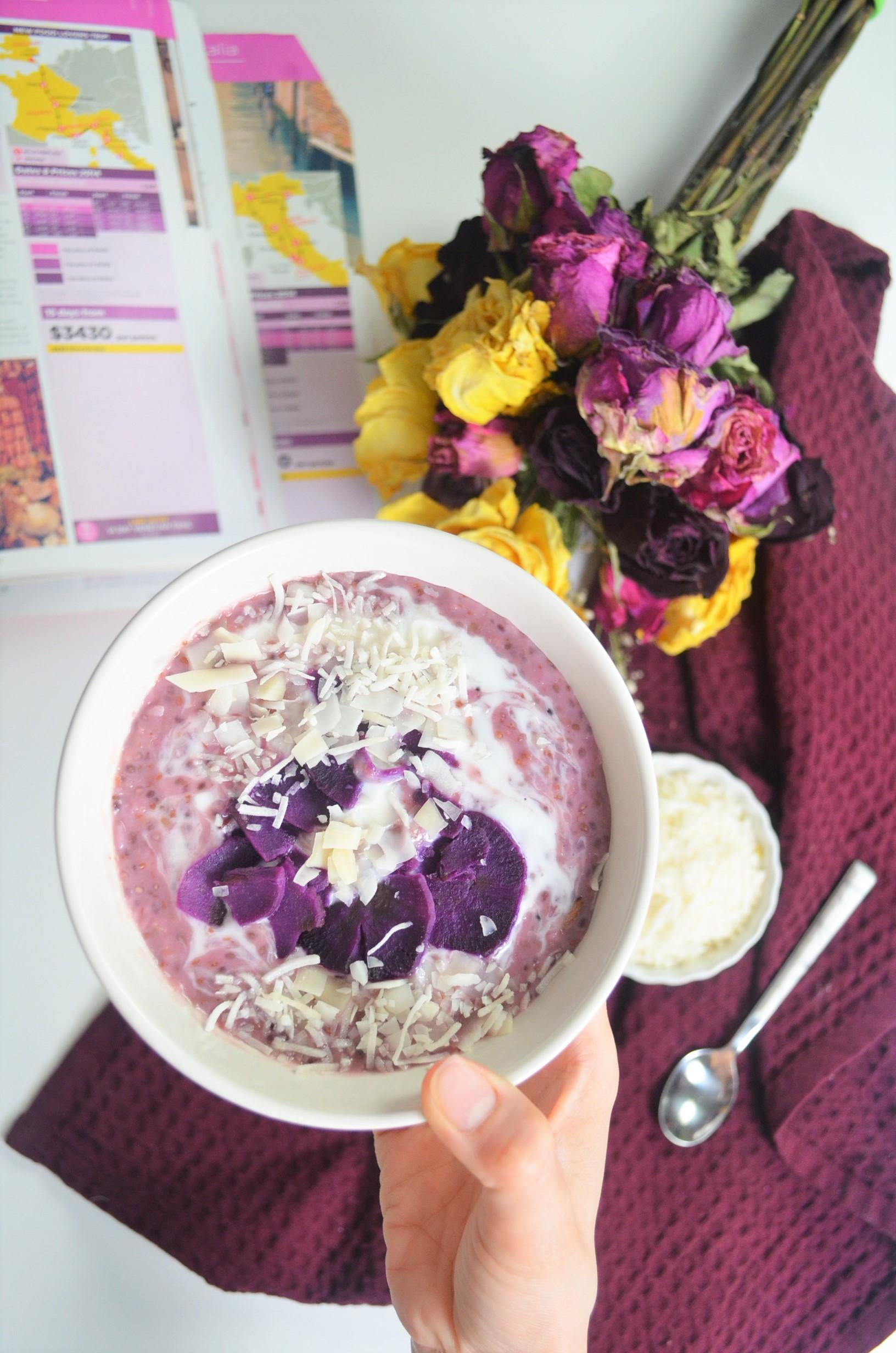 Small Batch Purple Yam Oatmeal