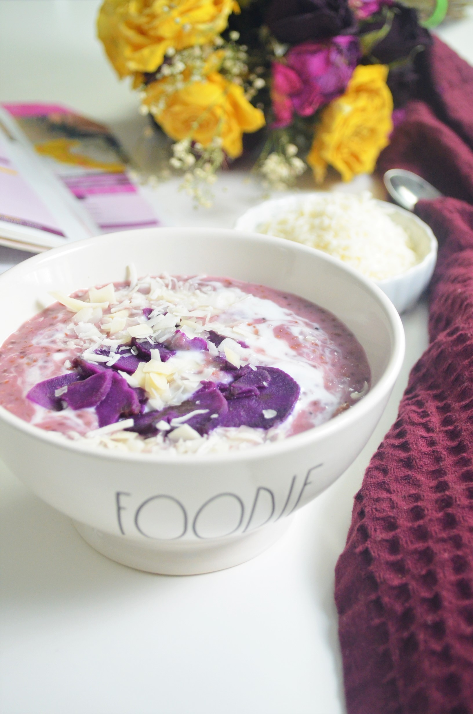 Small Batch Purple Yam Oatmeal For One
