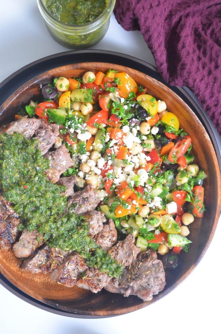 Steak wit Chimichurri Sauce