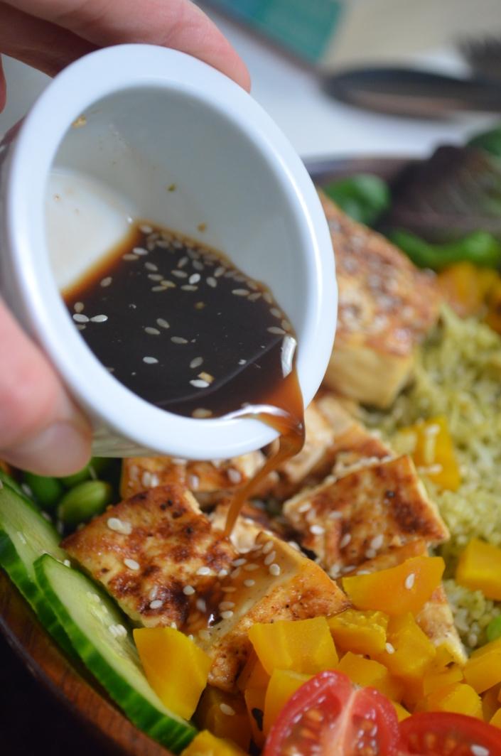 Teriyaki Sesame Tofu Buddha Bowl