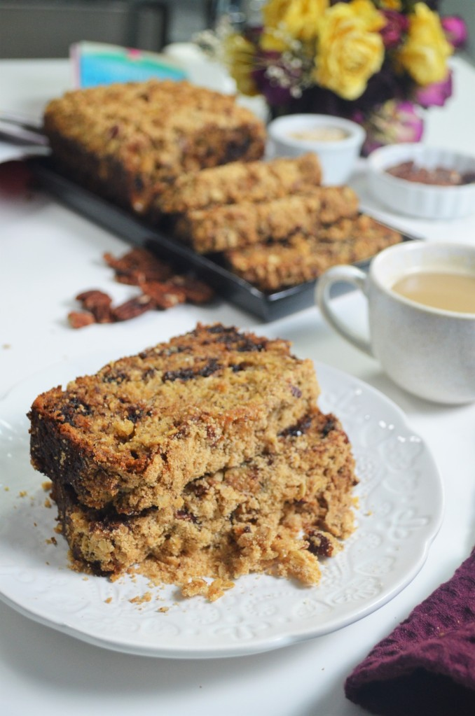 Banana Bread Walnut Crumbe Loaf By SweetNSpicyLiving