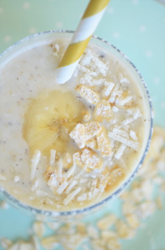 Banana Oatmeal Smoothie For One