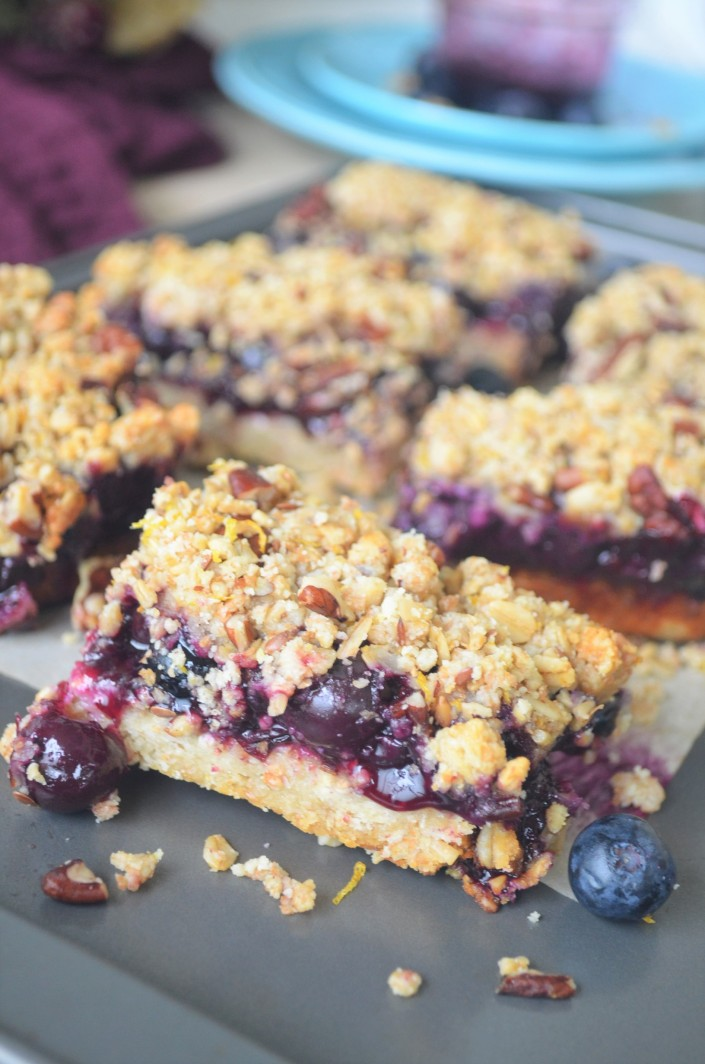 Blueberry Bar Gluten Free Vegan