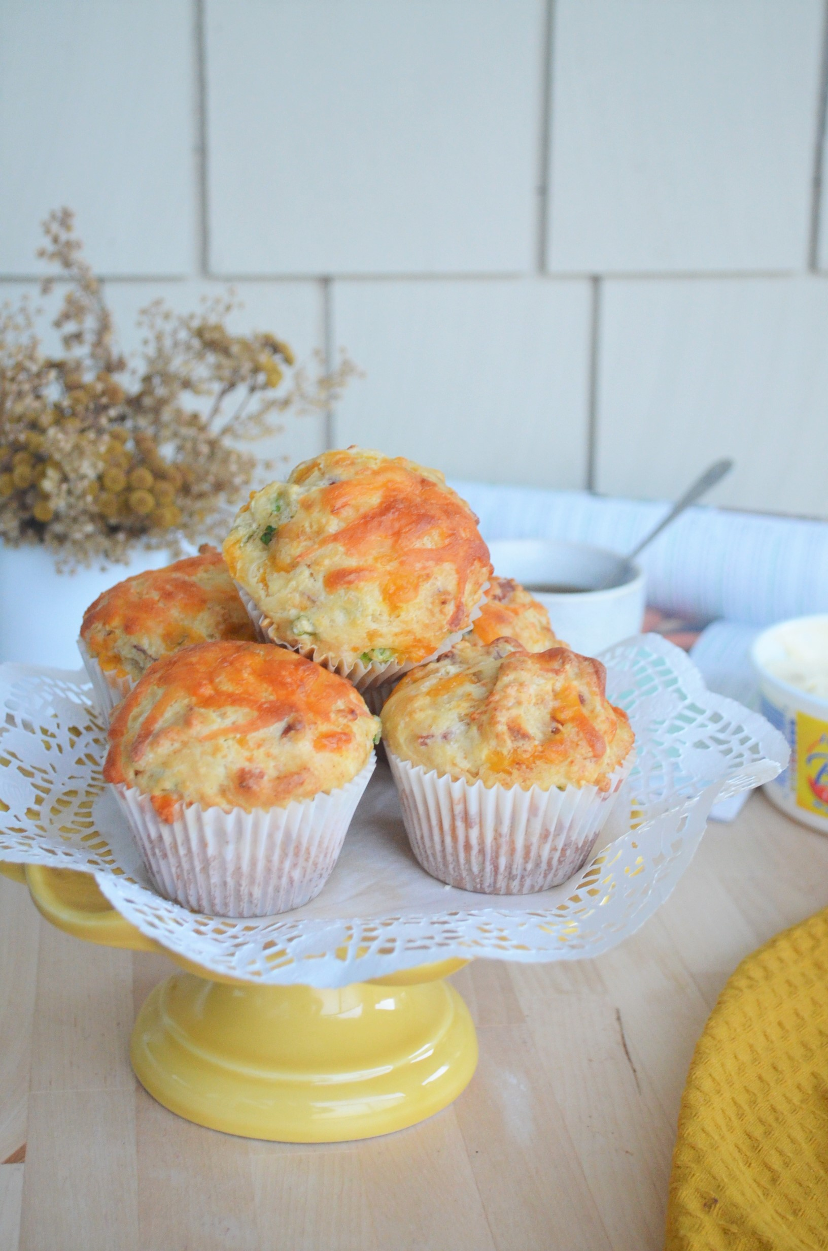 Cheesy Savory Breakfast Muffin By SweetnSpicyLiving